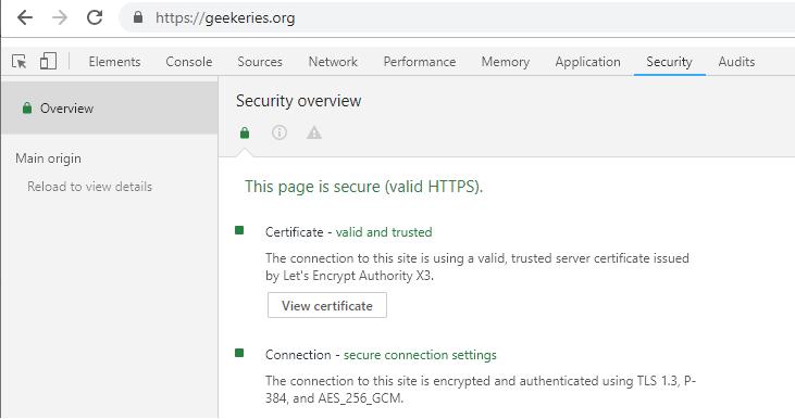 TLS 1.3 pour nginx sous Debian 9